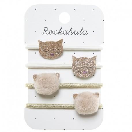 Rockahula Kids - 4 gumki do włosów Cleo Cat