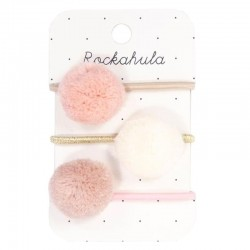 Rockahula Kids - 3 gumki do włosów Lily Leopard Pom Pom