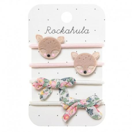 Rockahula Kids - 4 gumki do włosów Oh My Deer!