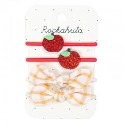 Rockahula Kids - 4 gumki do włosów Rosy Apple