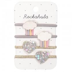 Rockahula Kids - 4 gumki do włosów Rainy Cloud Pastel