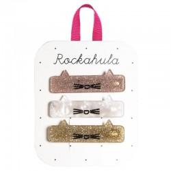 Rockahula Kids - 3 spinki do włosów Acrylic Cat