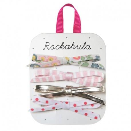 Rockahula Kids - 4 spinki do włosów Secret Garden Skinny Bow