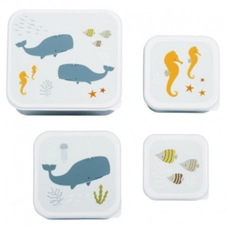 A Little Lovely Company - 4 Lunchboxy śniadaniówki Ocean