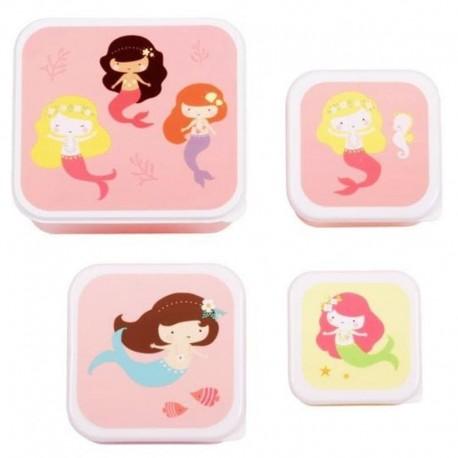 A Little Lovely Company - 4 Lunchboxy śniadaniówki Syrena