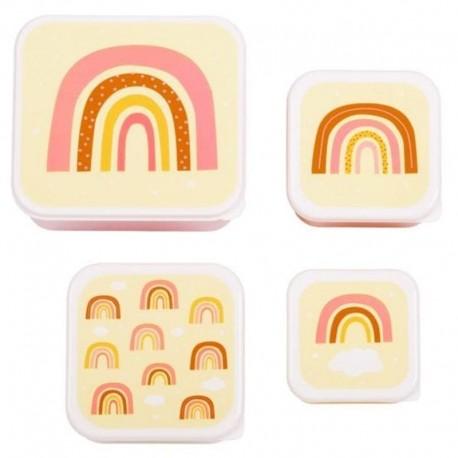 A Little Lovely Company - 4 Lunchboxy śniadaniówki Tęcza