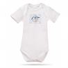 Lait Baby Organic Body Short Sleeve Tweet the Bird Blue