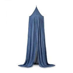 Jollein - Moskitiera baldachimowa nad łóżeczko niemowlęce Vintage JEANS BLUE 245 cm
