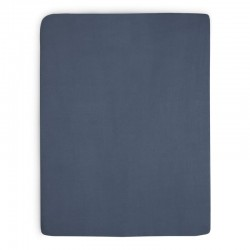 Jollein - Prześcieradło do łóżeczka 60 x 120 cm JEANS BLUE