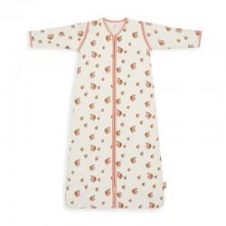 Jollein - Śpiworek niemowlęcy całoroczny 4 pory roku z odpinanymi rękawami Peach 110 cm