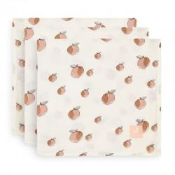 Jollein - 3 pieluszki niemowlęce Hydrophilic 70 x 70 cm Peach