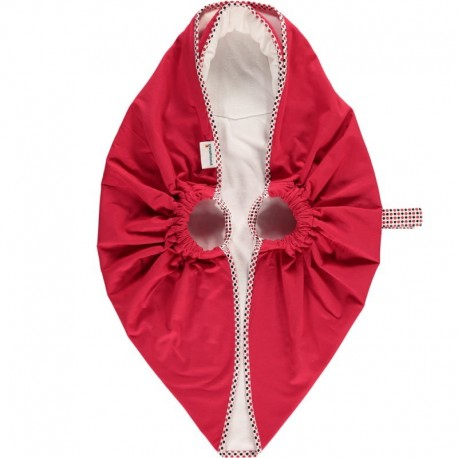Snugglebundl baby blanket Poppy Red