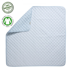 Filibabba Quilted Playmat Indian Nordic Blue Mata z bawełny organicznej