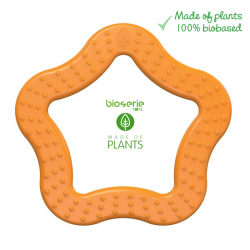 Bioserie Teether Star Orange  gryzak sensoryczny