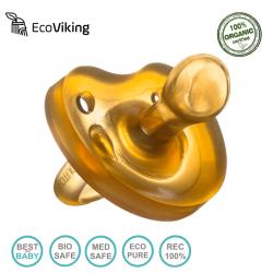 Eco Viking Anatomiczny Smoczek Uspokajający Hevea wiek 0+