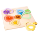 organic woodboon FLOWER SHAPES Kolorowy Kwiatek Puzzle Układanka Edukacyjna 2