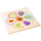 organic woodboon FLOWER SHAPES Kolorowy Kwiatek Puzzle Układanka Edukacyjna 4