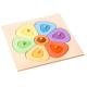 organic woodboon FLOWER SHAPES SMALL Kolorowy Kwiatuszek Puzzle Układanka Edukacyjna 5