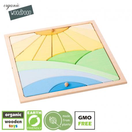 organic Woodboon SUNNY DAY Puzzle Układanka Edukacyjna