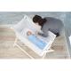 Little Chick London Crib White Oddychające łóżeczko dostawne 6