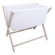 Little Chick London Crib Warm Grey Oddychające łóżeczko dostawne 4
