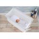 Little Chick London Crib Warm Grey Oddychające łóżeczko dostawne 2