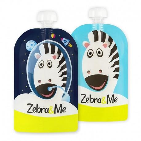 Zebra & Me ASTRO 2 PACK Saszetki do karmienia wielorazowe