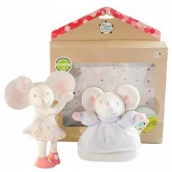 Meiya & Alvin - Meiya Mouse Organic Babyshower Set z grzechotką