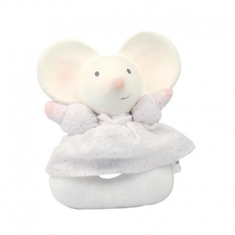 Meiya & Alvin - Meiya Mouse Soft Rattle with Organic Teether Head zwycięzca konkursu ZABAWKA ROKU 2016 3