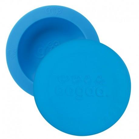 oogaa Blue Bowl & Lid silikonowa miseczka z pokrywką