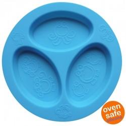 oogaa Blue Divided Plate silikonowy talerzyk trójdzielny