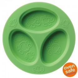 oogaa Green Divided Plate silikonowy talerzyk trójdzielny