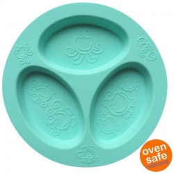 oogaa Jewel Blue Divided Plate silikonowy talerzyk trójdzielny