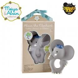 Meiya & Alvin - Gryzak z organicznego kauczuku Hevea Alvin Elephant Organic Rubber Teether