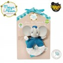 Meiya & Alvin - Alvin Elephant Soft Rattle with Organic Teether Head