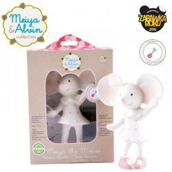 Meiya & Alvin - Gryzak piszczący z organicznego kauczuku Hevea Meiya Mouse