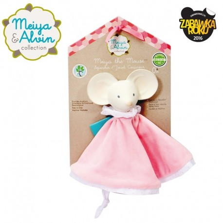 Meiya & Alvin - Meiya Mouse Snuggly Comforter with Organic Teether Head zwycięzca konkursu ZABAWKA ROKU 2016