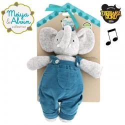 Meiya & Alvin - Lalka przytulanka z pozytywką Alvin Elephant
