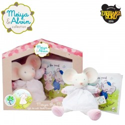 Meiya & Alvin - Meiya Mouse Mini Deluxe Teether Gift Set with Book zwycięzca konkursu ZABAWKA ROKU 2016