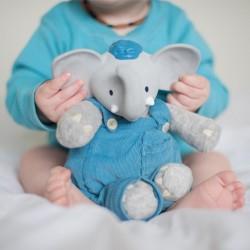 Meiya & Alvin - Alvin Elephant Mini Deluxe Teether Gift Set with Book