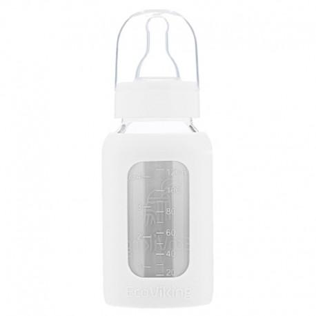 Eco Viking Antykolkowa Butelka Szklana dla Niemowląt 120 ml White Mist