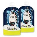 Zebra & Me ASTRO II - 2 PACK Saszetki do karmienia wielorazowe