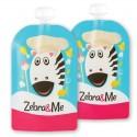 Zebra & Me CHEF II - 2 PACK Saszetki do karmienia wielorazowe