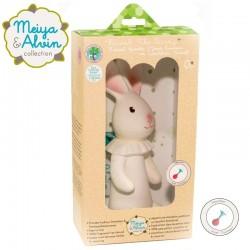 Meiya & Alvin - gryzak piszczący z organicznego kauczuku Hevea Havah Bunny