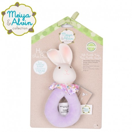 Meiya & Alvin - Havah Rabbit Soft Rattle with Organic Teether Head