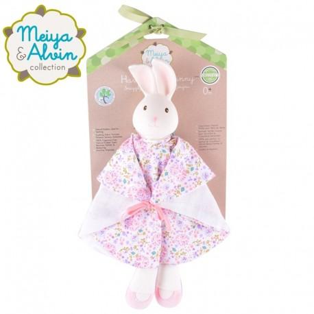 Meiya & Alvin - Havah Rabbit Snuggly Comforter with Organic Teether Head