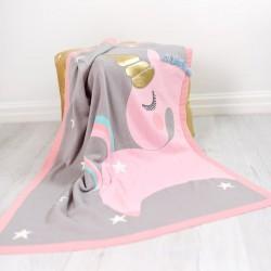 Bizzi Growin Unicorn Blanket kocyk z aplikacją sensoryczną