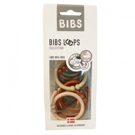BIBS LOOPS - BLUSH / VANILLA / RUST