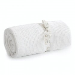 Bizzi Growin Cellular Blanket White kocyk do gondoli i kołyski
