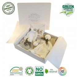 Maud N Lil Luksusowy zestaw prezentowy z organicznej BIO bawełny GOTS Ears Bunny Luxury Babyshower Gift Box
